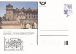 Czech Republic 1996 Postal Stationery Card: Architecture Castle Lion Eagle; HORSOVSKY TYN  A38/96 - Architektur