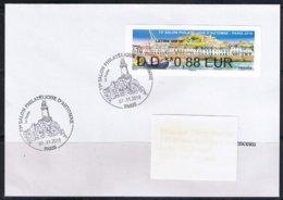 Atm, PLI, DD 0.88€, NABANCO, JERSEY, PORT DE GOREY, Phare De Corbiéres, 73éme Salon D'automne, JERSEY. 7/11/19 - 2010-... Illustrated Franking Labels