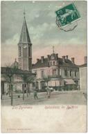 CPA Rabastens-de-Bigorre 65. église, Place, Animée, Colorée 1908 - Rabastens De Bigorre