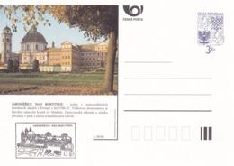 Czech Republic 1996 Postal Stationery Card: Architecture Castle Lion Eagle; JAROMERICA NAD ROKYTNOU  A39/96 - Architektur