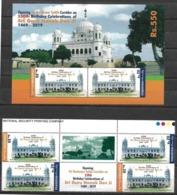 PAKISTAN 2019, Sikh Religion 550th Birthday Celebrations Sri Guru Nanak Dev Ji, Stamp Set+High Value Miniature Sheet MNH - Pakistan