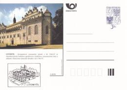 Czech Republic 1996 Postal Stationery Card: Architecture Castle Lion Eagle; LITOMYSL  A40/96 - Architektur