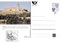 Czech Republic 1996 Postal Stationery Card: Architecture Castle Lion Eagle; MELNIK  A41/96 - Architektur