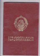 SFR YUGOSLAVIA   ---  PASSPORT  --  GENTLEMAN  --   1980 - Historische Dokumente