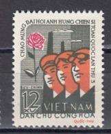 Vietnam Nord 1962 - Workers' Congress, Mi-Nr. 214, MNH** - Vietnam