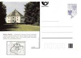 Czech Republic 1996 Postal Stationery Card: Architecture Castle Lion Eagle; PRAHA / HVEZDA A43/96; - Architektur