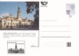 Czech Republic 1996 Postal Stationery Card: Architecture Castle Lion Eagle; PRAHA / LORETA A44/96; - Architektur