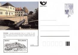 Czech Republic 1996 Postal Stationery Card: Architecture Castle Lion Eagle; SPILBERK A45/96; Cannon - Architektur