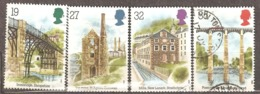 Great Britain: Full Set Of 4 Used Stamps, Architectural Monuments Of Industrial Revolution, 1989, Mi#1206-1209 - 1952-.... (Elizabeth II)