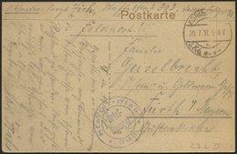 DT. FP IM BALTIKUM 1914/18 23. Landwehr-Division, 20.7.18, Mit Ausgestanztem Stempel K.D. FELDPOST A Auf Ansichtskarte ( - Lettland