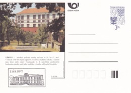 Czech Republic 1996 Postal Stationery Card: Architecture Castle Lion Eagle; ZAKUPY A47/96; - Architektur