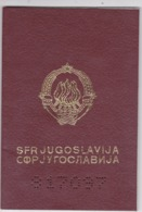 SFR YUGOSLAVIA   ---  PASSPORT  --  LADY PHOTO --   1989 - Historische Dokumente
