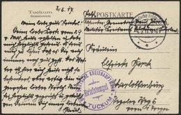 DT. FP IM BALTIKUM 1914/18 Feldpoststation Nr. 33, 4.5.17, Mit Tarnstempel DEUTSCHE FELDPOST *** Auf Ansichtskarte (Tuck - Lettland