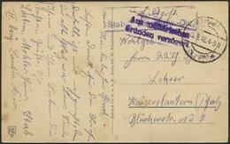 LETTLAND Feldpoststation Nr. 383, 15.3.18, Mit Aptiertem Stempel K.D. FELDPOST ** Auf Ansichtskarte (Riga-Anlagen Und Po - Lettland