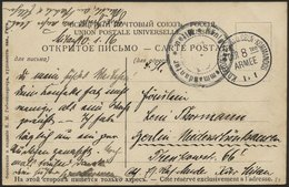 LETTLAND 84 BRIEF, K.D. FELDPOSTEXPED. D. OBER-KOMMANDOS DER 8ten ARMEE, 10.1.16, Auf Ansichtskarte (Puza-Riga-Düna-Ansi - Lettland