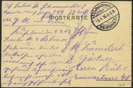 LETTLAND 767 BRIEF, K.D. FELDPOSTEXPED. 88. INFANTERIE-DIV., 3.4.16, Auf Ansichtskarte (Wilna-Schloßberg.) Nach Essen, M - Lettland