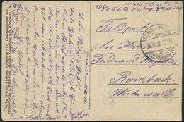 LETTLAND 768 BRIEF, K.D. FELDPOSTEXPED. DER 88. INFANTERIE-DIV. A, 18.11.16, Auf Ansichtskarte (Vom östlichen Kriegsscha - Lettland