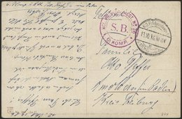 DT. FP IM BALTIKUM 1914/18 K.D. FELDPOSTEXPED. D. 105. INFANTERIE-DIV. C, 13.10.16, Auf Farbiger Propagandakarte (Unsere - Lettland