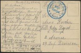 DT. FP IM BALTIKUM 1914/18 K.D. FELDPOSTEXP. DER 6. RES. DIV. B, 30.11.16, Auf Ansichtskarte (Riga-Die Börse) An Das Fel - Lettland