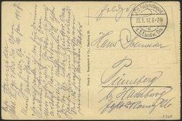 DT. FP IM BALTIKUM 1914/18 K.D. FELDPOSTEXPED. D. 1. LANDW.-DIV. C, 12.1.17, Auf Ansichtskarte (v. Mackensen) Nach Pinne - Lettland