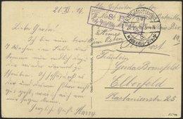 DT. FP IM BALTIKUM 1914/18 K.D. FELDPOSTEXPED. DER 8. KAVALL.-DIV. * A, 27.11.16, Auf Farbiger Ansichtskarte (Russischer - Lettland
