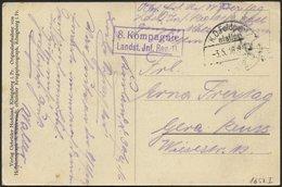 LETTLAND 1652I BRIEF, K.D. FELDPOST=STATION NR. 33, Type I, 3.5.16, Auf Ansichtskarte (Mitau-Wintersport) Nach Gerau, Mi - Lettland