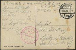 LETTLAND 2006 BRIEF, K.D. FELDPOSTSTATION NR. 168 **, 25.8.16, Auf Farbiger Ansichtskarte (Libau-Kaiser-Pavillon) Von Li - Lettland