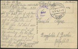 DT. FP IM BALTIKUM 1914/18 K.D. FELDPOSTSTATION NR. 213 * A, 14.9.16, Auf Ansichtskarte (Mitau-Katholische Straße), Nach - Lettland