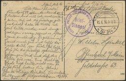 LETTLAND 2124 BRIEF, K.D. FELDPOSTSTATION NR. 214 * A, 15.6.16, Auf Ansichtskarte (Mitau-Trinitatiskirche) Von Mitau Nac - Lettland