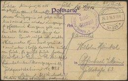 LETTLAND 2135I BRIEF, K.D. FELDPOSTSTATION NR. 223 **, Type I, 26.3.16, Auf Farbiger Ansichtskarte (Libau-Zollamt) Von M - Lettland