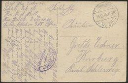 DT. FP IM BALTIKUM 1914/18 K.D. FELDPOSTSTATION NR. 315 **, 10.12.16, Auf Ansichtskarte (Kalvarje-Totalblick) In Den Kre - Lettland