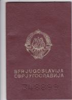 SFR YUGOSLAVIA   ---  PASSPORT  --  LADY PHOTO --   1990 - Historische Dokumente