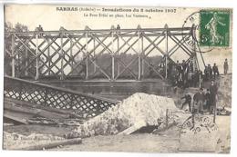 SARRAS - Inondations Du 8 Octobre 1907 - Le Pont Eiffel En Place, Les Visiteurs - France