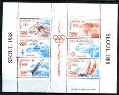 WALLIS - BF  3 - Jeux Olympiques De SEOUL 1988 - Neuf N** - Très Beau - Blocks & Sheetlets