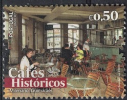 Portugal 2017 Oblitéré Used Cafés Históricos Cafés Historiques Milenário Guimarães SU - 1910-... République