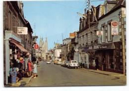 SAINT-JAMES. La Rue Fauconnière. Bar Tabac.  Biere Vega Motte Cordonnier . Voiture .Renault 4L Estafette. Artaud - France