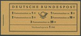 MARKENHEFTCHEN MH 4YI **, 1960, Markenheftchen Heuss Lieg. Wz., Erstauflage, Postfrisch, Pracht, Mi. 120.- - Markenheftchen