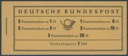 MARKENHEFTCHEN MH 4YII RLV III **, 1960, Markenheftchen Heuss Lieg. Wz., Nachauflage, Randleistenvariante III, Postfrisc - Markenheftchen