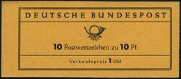 ZUSAMMENDRUCKE MH 6a **, 1960, Markenheftchen Heuss Lumogen, Erstauflage, Schwach Fluoreszierend, Pracht, Gepr. D. Schle - Markenheftchen