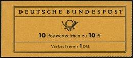 ZUSAMMENDRUCKE MH 6a **, 1960, Markenheftchen Heuss Lumogen, Erstauflage, Stark Fluoreszierend, Pracht, Gepr. D. Schlege - Markenheftchen