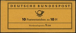 ZUSAMMENDRUCKE MH 6caII **, 1960, Markenheftchen Heuss Lumogen, Erstauflage, Mit Liegendem Grünen L Oberhalb Der Unteren - Markenheftchen