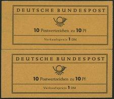 MARKENHEFTCHEN MH 6e,fbI **, 1960, Markenheftchen Heuss Lumogen, Nachauflage, Mit Roter Bogenlaufnummer Und Randziffer 7 - Markenheftchen