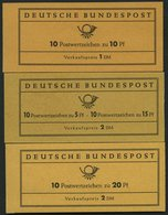 MARKENHEFTCHEN MH 7-9 **, 1961-63, 3 Markenheftchen, Pracht, Mi. 110.- - Markenheftchen
