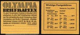 ZUSAMMENDRUCKE MH 14e,g **, 1968, Markenheftchen Brandenburger Tor, Reklame E Und G, Heftchenzähnung, Pracht, Mi. 160.- - Markenheftchen