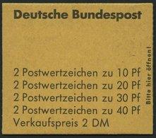 MARKENHEFTCHEN MH 18aRLV X **, 1972, Markenheftchen Unfallverhütung, 4. Deckelseite: Sieger, Randleistenvariante X, Prac - Markenheftchen