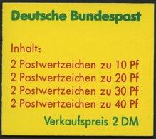 MARKENHEFTCHEN MH 20b **, 1974, Markenheftchen Unfallverhütung, 2. Deckelseite: Telefonansagedienste, Pracht, Mi. 65.- - Markenheftchen