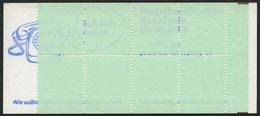 MARKENHEFTCHEN VJ-MH 20c **, 1974, Versuchs-Markenheftchen Unfallverhütung, 4. Deckelseite: Bei Adressen Ortsangabe Zuer - Markenheftchen