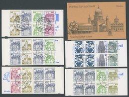 MARKENHEFTCHEN MH 21-29 O, 1977-93, 10 Gestempelte Markenheftchen, Pracht - Markenheftchen