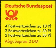 ZUSAMMENDRUCKE MH 22adK3 **, 1984, Markenheftchen Burgen Und Schlösser, 2. Deckelseite: Oberkante Brief Und P Von Post M - Markenheftchen