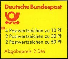 ZUSAMMENDRUCKE MH 22ah **, 1987, Markenheftchen Burgen Und Schlösser, 2. Deckelseite: WWF, Mit Zählbalken, Pracht, Mi. 6 - Markenheftchen
